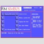 RM Nimbus Welcome menu