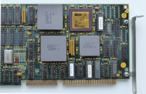 A80387DX-22 Coprocessor and Weitek 3167